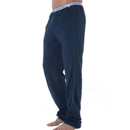 Pantalon CK One Cotton Stretch Bleu Calvin Klein en soldes