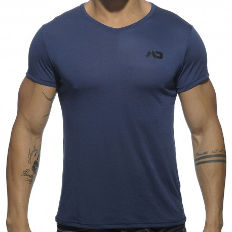 T-Shirt V-Neck Basic Marine Addicted