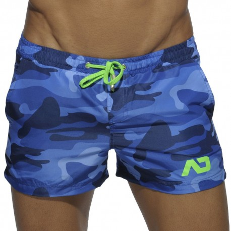 Short de Bain Camouflage Marine Addicted