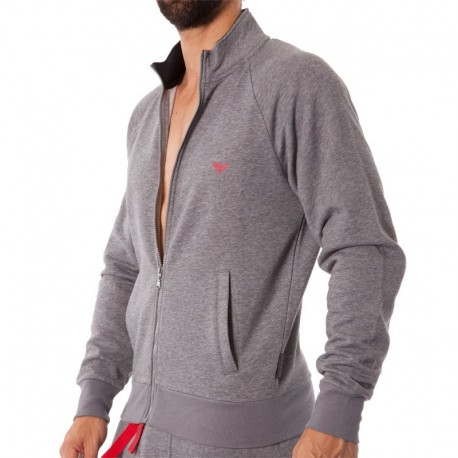 Inderwear Veste Basic French Terry - Gris Chiné Emporio Armani