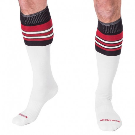 Chaussettes Football - Blanc - Rouge - Noir Barcode