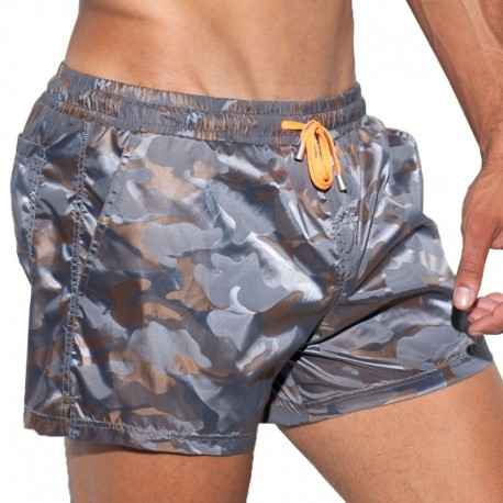 Short de Bain Elliot Camo Marron ES Collection