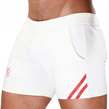 TOF Paris Short - White - Red