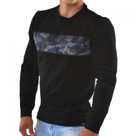 Roberto Lucca Camouflage Sweater - Black Camo