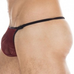 L'Homme invisible Agosto Striptease Thong - Burgundy