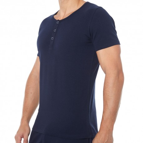 Garçon Français Tunisian Short-Sleeved T-Shirt - Navy