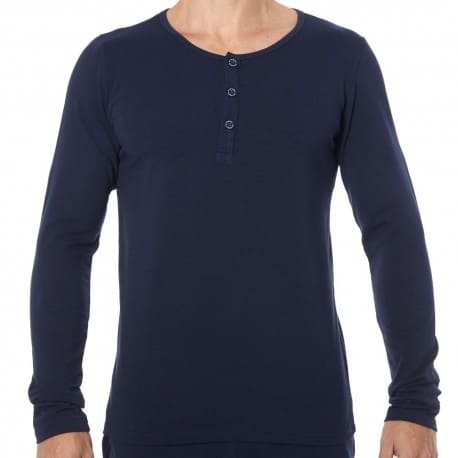 Garçon Français Tunisian Long-Sleeved T-Shirt - Navy