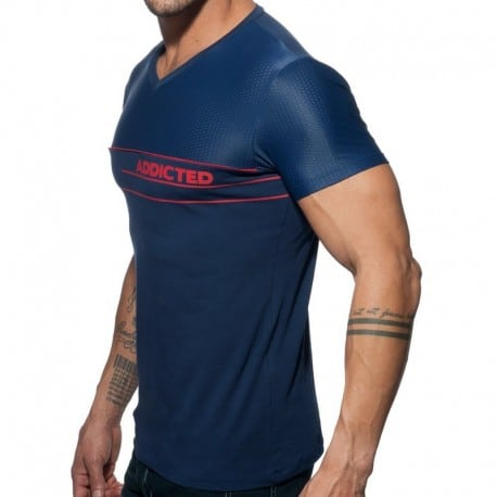 Addicted AD Mesh T-Shirt - Navy