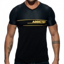 Addicted AD Mesh T-Shirt - Black