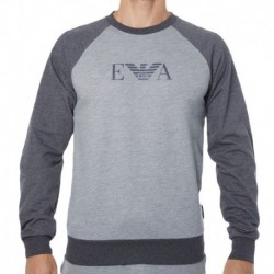 Sweat-Shirt Logomaniac Terry Gris Chiné