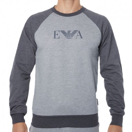 Emporio Armani Logomaniac Terry Sweater - Heather Grey