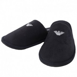 Emporio Armani Towelling Slippers - Black