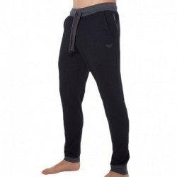 Emporio Armani Logomaniac Terry Pants - Black