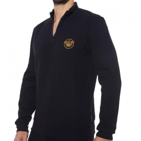 Emporio Armani Iconic Terry Sweater - Black
