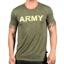 Andrew Christian T-Shirt Army Glam Burnout Kaki
