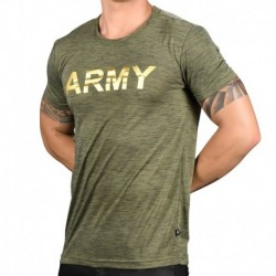 Andrew Christian Glam Army Burnout T-Shirt - Khaki