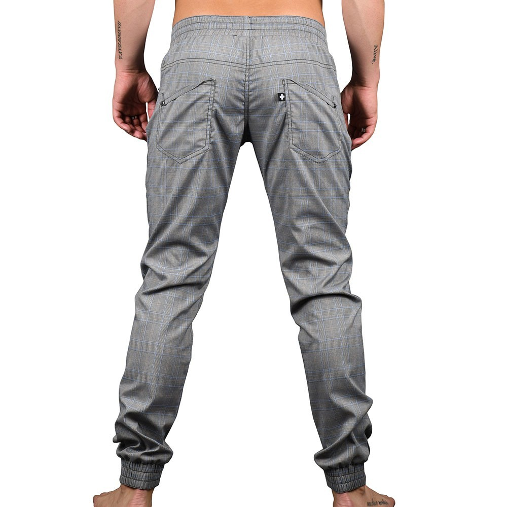 Pantalon Plaid Jogger Andrew Highland Christian Gris p1wE1q