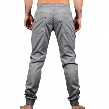 Pantalon Jogger Highland Plaid Gris