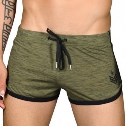 Andrew Christian Short Sergeant Burnout Kaki