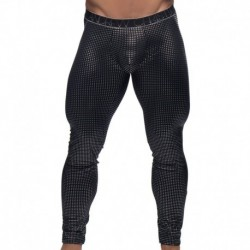 Andrew Christian Almost Naked Glam Legging - Black - Silver