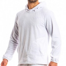 Sweat-Shirt Hoodie Tiger Blanc