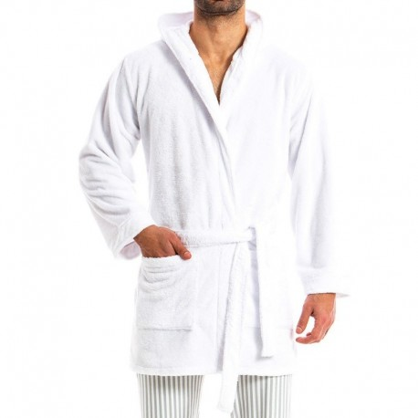 Modus Vivendi Tiger Bathrobe - White