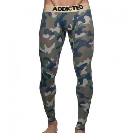 Addicted Calecon Long Empty Bottom - Camo Kaki