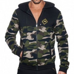 Addicted Camo Sport Jacket - Black