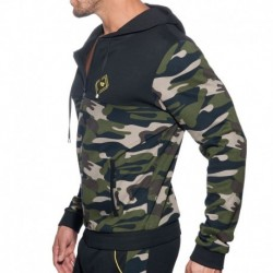 Addicted Veste Sport Camo Noire