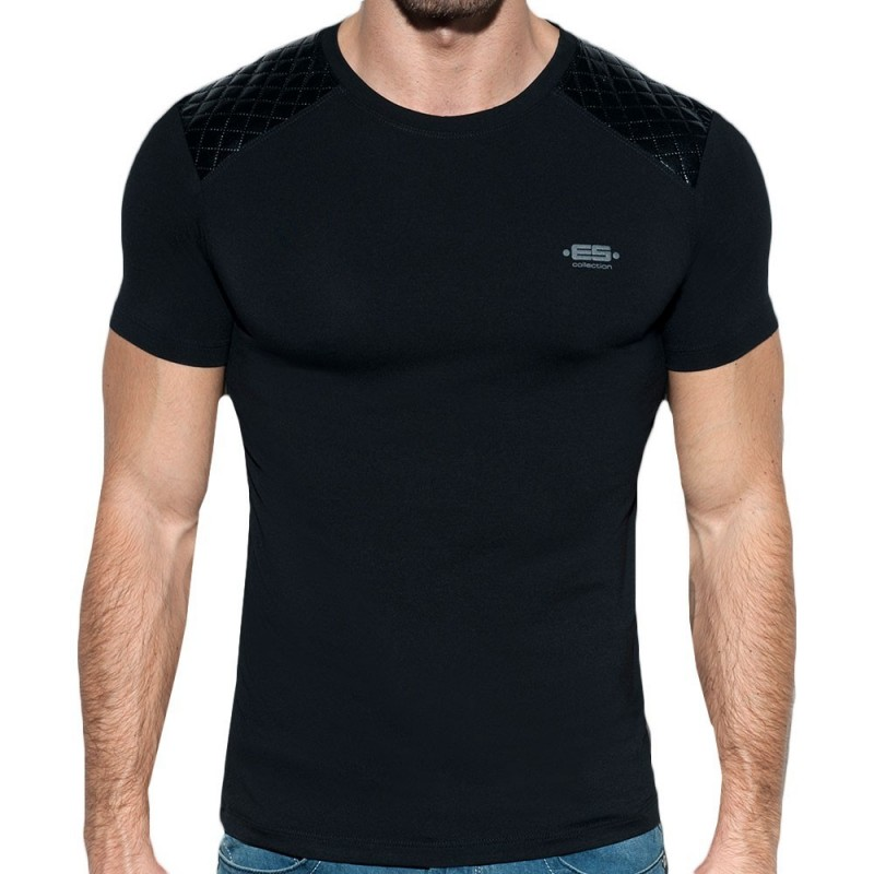 T-Shirt Dystopia Quilted Noir