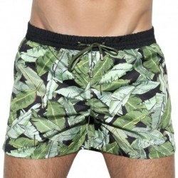ES Collection Leaves Swim Boardshort - Black