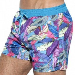 ES Collection Leaves Swim Boardshort - Blue