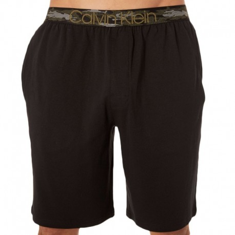 Calvin Klein Camo Cotton Bermuda - Black