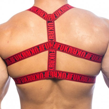 FUKR Edge Harness - Red - Black