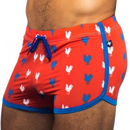 Andrew Christian Cock Jogger Short - Red