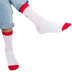 Surprise Chaussettes Sailor - Blanc - Rouge