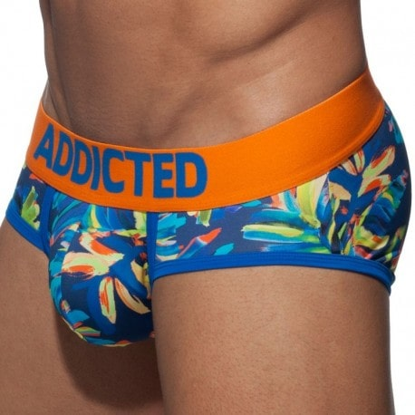 Addicted Slip Swimderwear Flowery Push Up Orange
