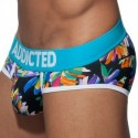 Slip Swimderwear Flowery Push Up Turquoise