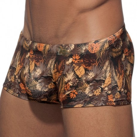 Addicted Leaves Swim Boxer - Brown