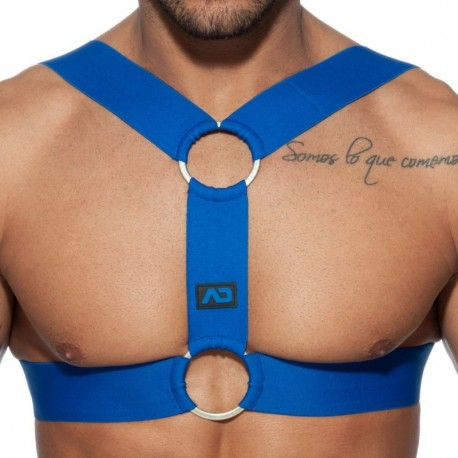 AD Fetish Double Ring Harness - Royal