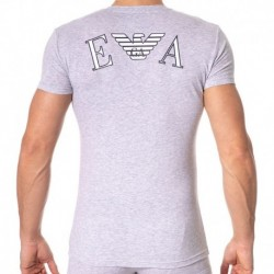 Emporio Armani T-Shirt Athletics Gris Chiné