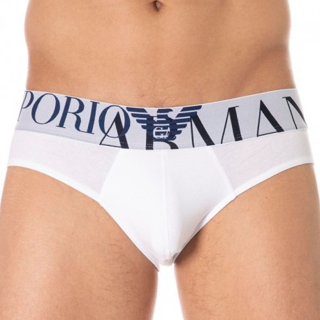 Emporio Armani Megalogo Brief - White