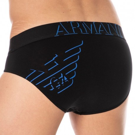 Emporio Armani 3D Print Brief - Black