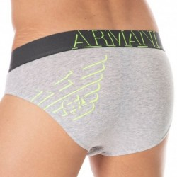Emporio Armani 3D Print Brief - Heather Grey