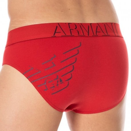 Emporio Armani 3D Print Brief - Red