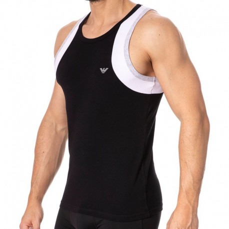 Emporio Armani Color Block Tank Top - Black