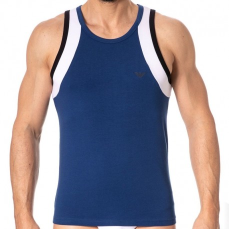 Emporio Armani Color Block Tank Top - Blue