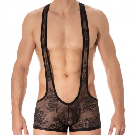 Doreanse Sexy Lace Singlet - Black
