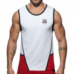 Addicted Combi Shield Tank Top - White - Red