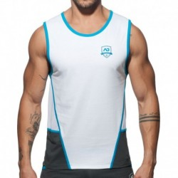 Addicted Combi Shield Tank Top - White - Grey